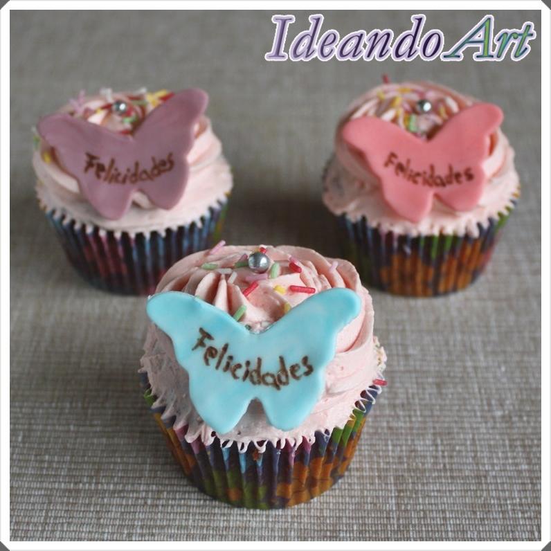 Cupcakes con mariposas