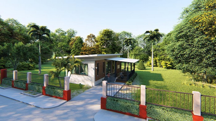 These small bungalow houses consist of 1-2 bedrooms, 1-2 bathroom, 1 living room, and a kitchen. The land is 50 to 100 square meters and estimated costs starting 600k Baht or 900k Pesos.