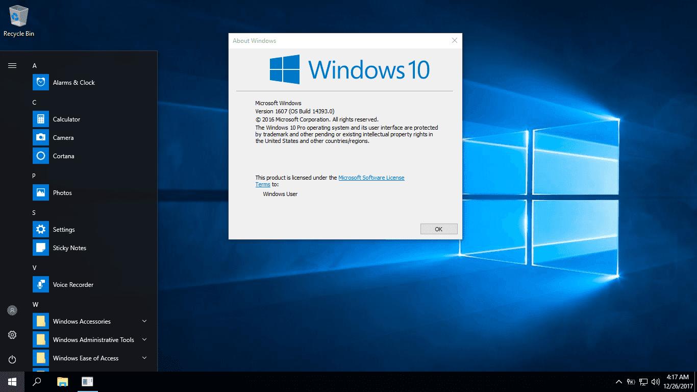 Bộ cài Windows 10 Pro Lite Version 1607 phiên bản rút gọn tính năng