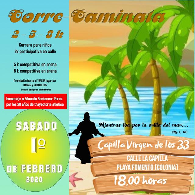 8k 5k 2k Correcaminata Playa Fomento de Colonia (01/feb/2020)