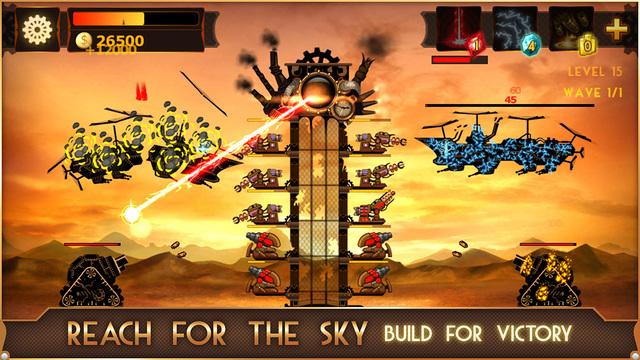 لعبة برج الدفاع Steampunk Tower