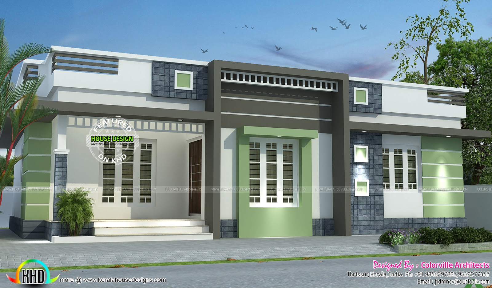 One Floor Box Model Home Design Kerala Home Design And