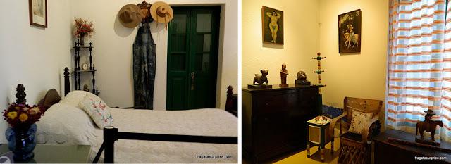Quarto de Frida Kahlo e Diego Rivera na Casa Azul, hoje Museu Frida Kahlo