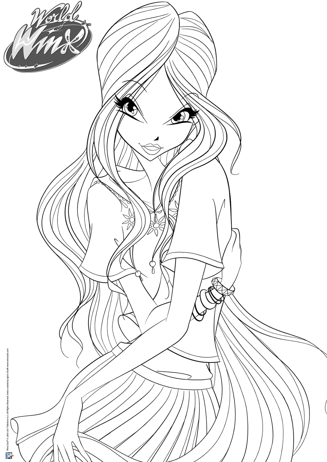 Winx Club All World Of Winx Coloring Pages Casual Outfit
