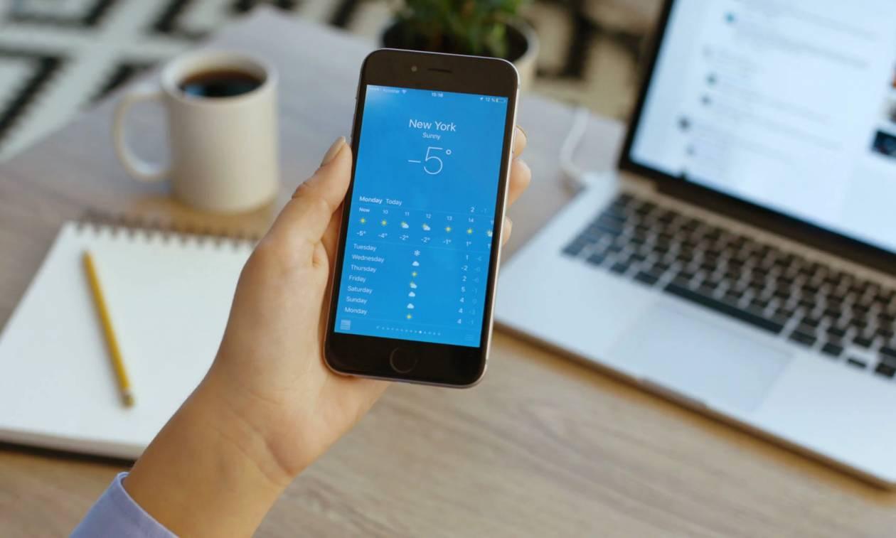 Προσοχή! Γνωστή εφαρμογή πρόγνωσης καιρού για κινητά τηλέφωνα διαρρέει προσωπικά σας δεδομένα