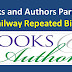Books and Authors Part – 3 Railway Repeated Bits