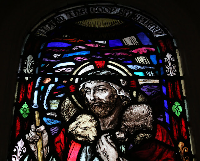 Shepherd and the Lamb - stained glass window, St. Barnabas, Ottawa