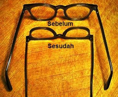 cara repair gagang kacamata yang longgar