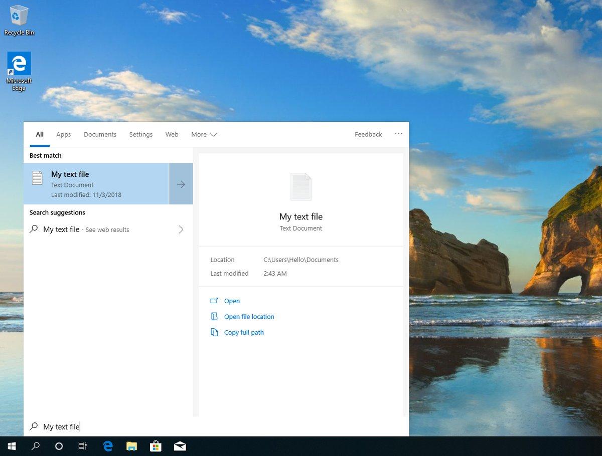 Ricerca-Windows-10