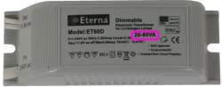 Electronic transformer 20-60 watt load requirement