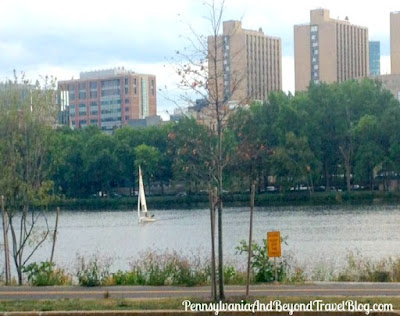 The Charles River in Boston and Cambridge Massachusetts
