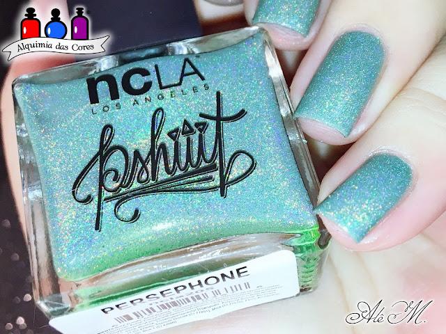 NCLA, Persephone, Verde Água, Sugar Bubbles, SB053, DRK Nails, Extra Black, Alê M. 2018, Alquimia das Cores