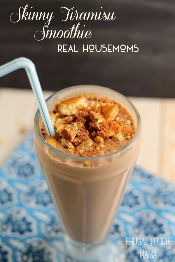This creamy, low fat Skinny Tiramisu Smoothie is a guilt free way to satisfy your craving for a classic Italian dessert.