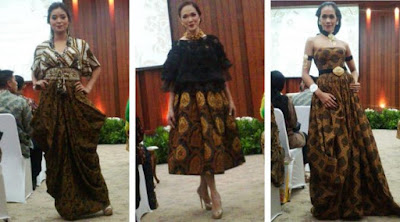 Model Baju Batik Artis Selebritis Modern Terbaru
