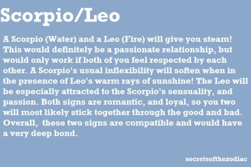 Scorpio-leo sexuality traits