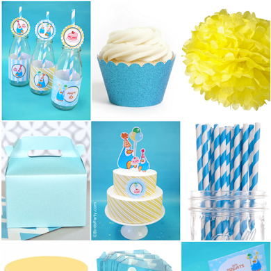 Blue and Yellow Penguin Birthday Party Ideas