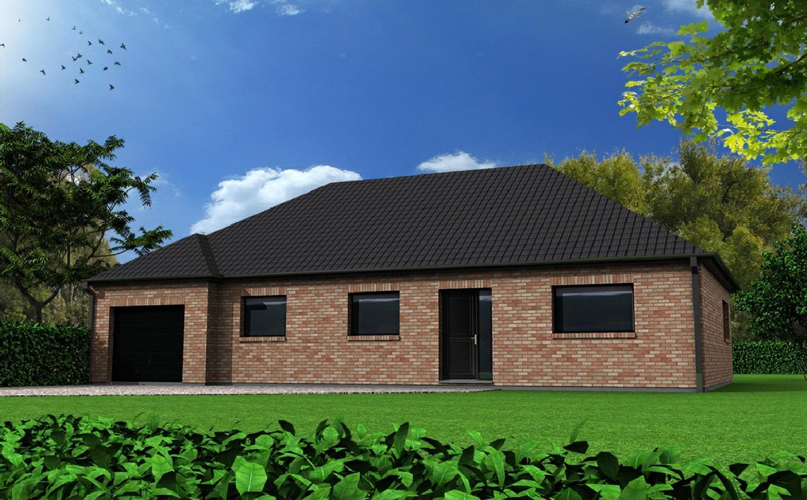 Maison-Familiale LILLE: DEULEMONT - Plain Pied - 106 m²