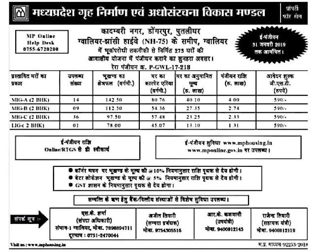 mp-housing-scheme-online-flat-booking-in-kadambri-nagar-gwalior