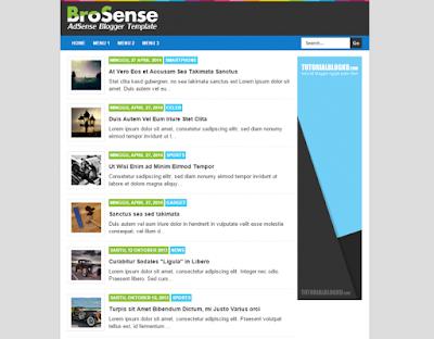 Brosense - Responsive Blogger Template
