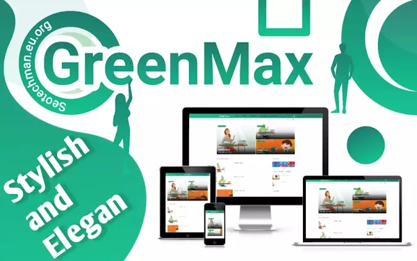 GreenMax, Template Blogger Gratis, Fast Loading, Responsif, dan SEO Friendly