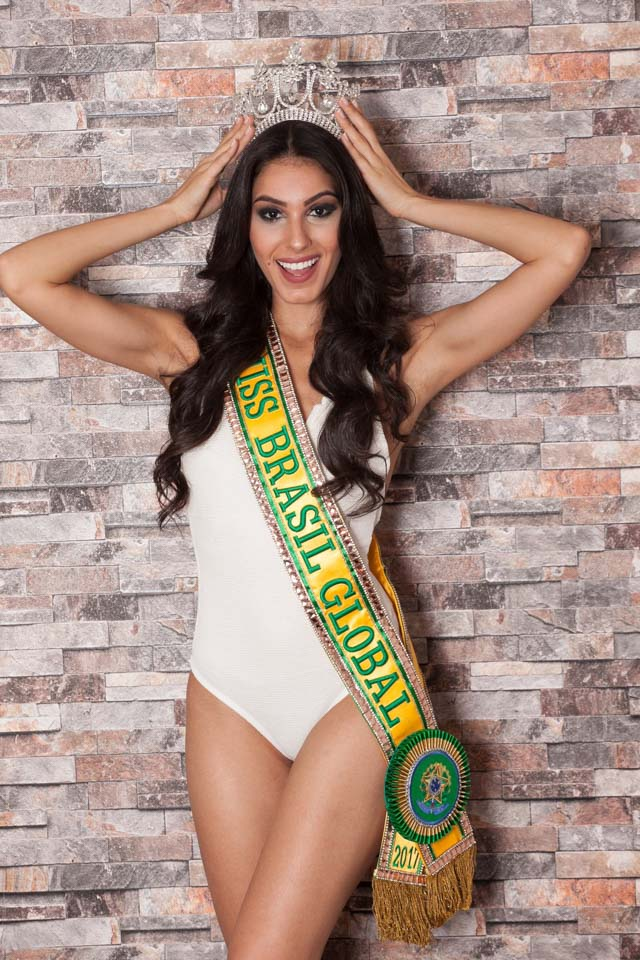 Barbara Vitorelli foi eleita Miss Brasil Global 2017. Foto: Izlo Buck/Renato Cipriano - Divulgação