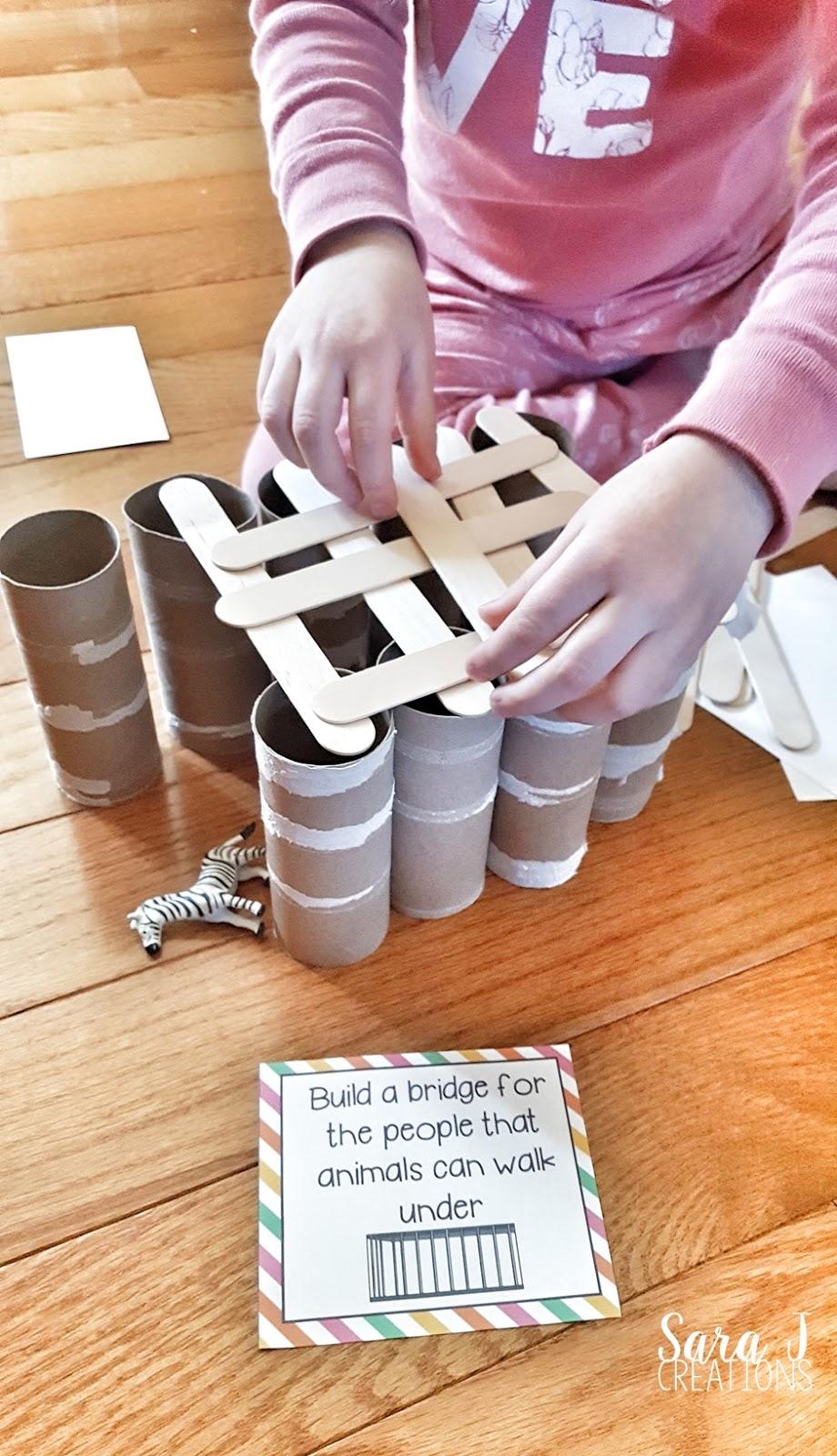 Zoo Themed STEM Activity | Sara J Creations