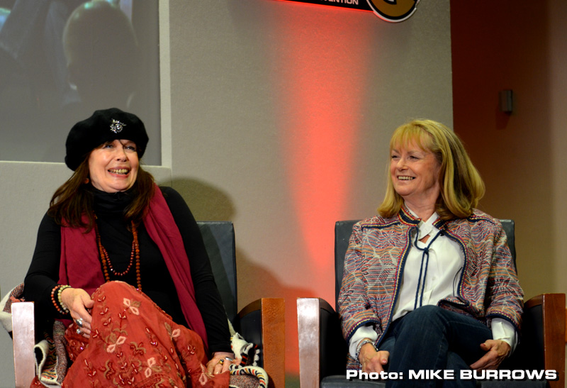 Penny Spencer and Georgina Moon at Fanderson's Special Assignment convention