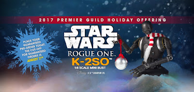 Star Wars Rogue One Holiday K-2SO Mini Bust by Gentle Giant