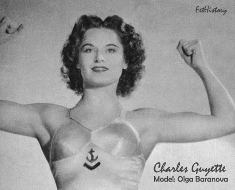 Charles Guyette, Olga Baranova, lady wrestler, lady boxer