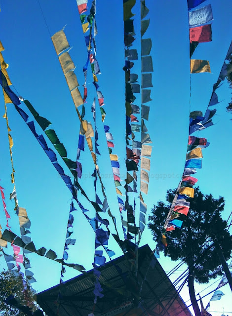 Sightseeing in Sikkim at Ganesh Tok Gangtok Prayer Flags
