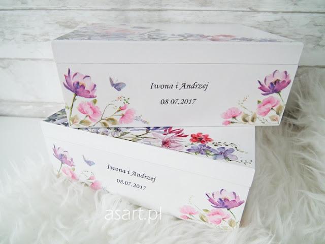 pudełka ślubne