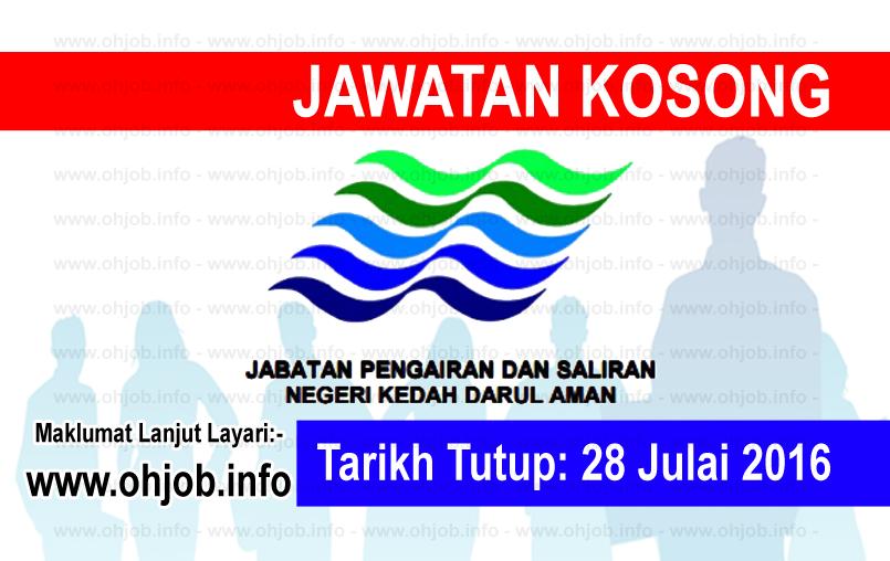 Jawatan Kerja Kosong Jabatan Pengairan dan Saliran Negeri Kedah logo www.ohjob.info julai 2016