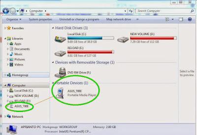 cara memindahkan data hp asus ke komputer
