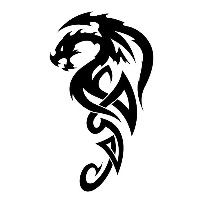 tattoos dragon tattoo stencils 2. Black Bedroom Furniture Sets. Home Design Ideas