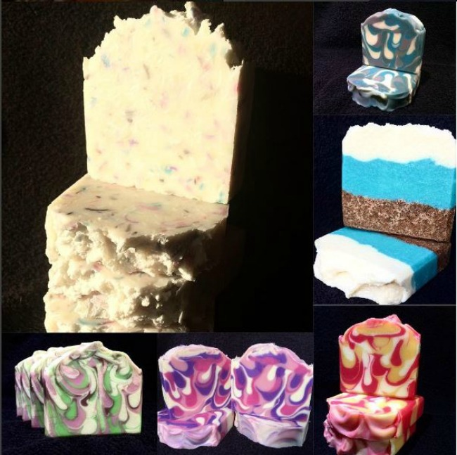 Handmade-not-homemade-Christmas-gift-guide-the-soap-mine-collage-of-images-of-soap