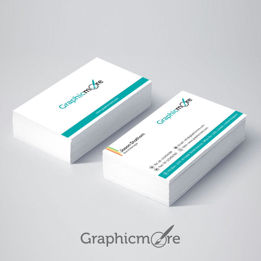 Corporate minimal business card design free download psd vectorkh download1 reheart Images
