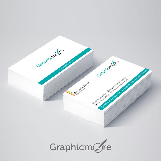 Corporate Minimal Business Card Design Free Download PSD