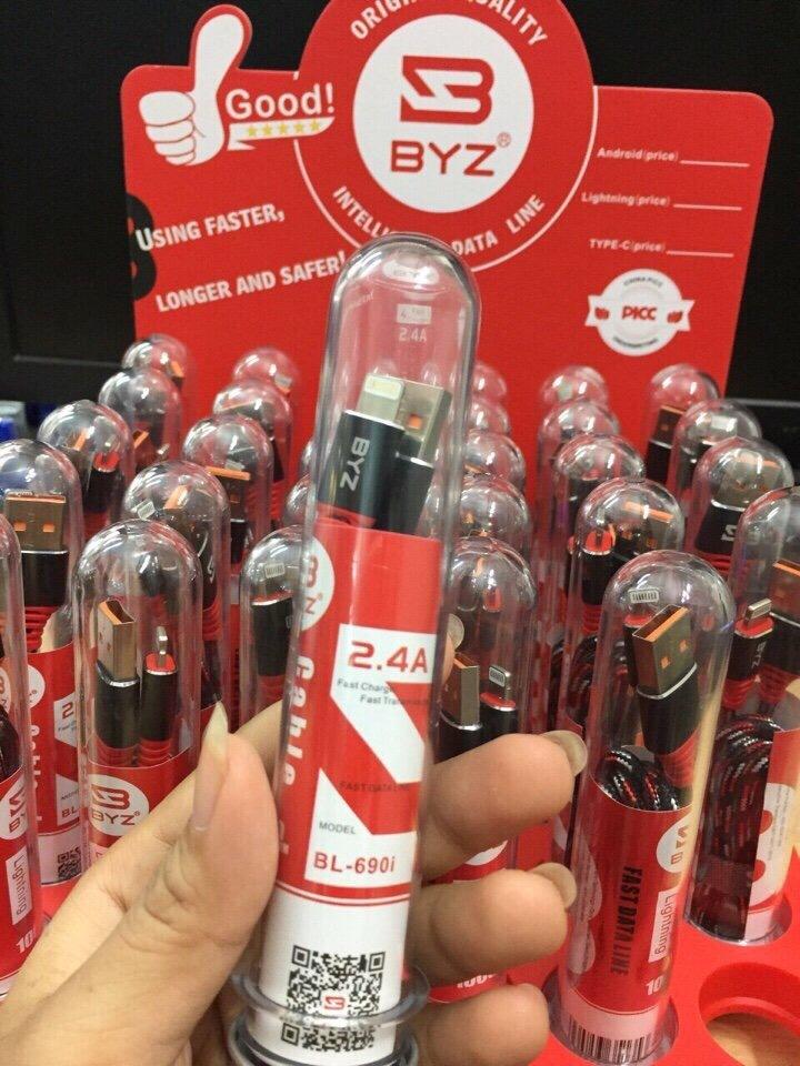 36k - Cáp sạc BYZ BL690i chính hãng dây dù 1m giá sỉ và lẻ rẻ nhất