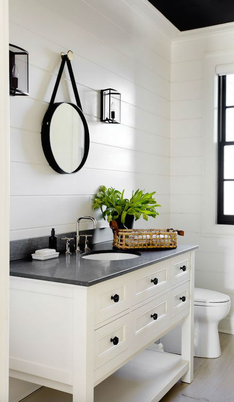 black and white bathroom design inspiration