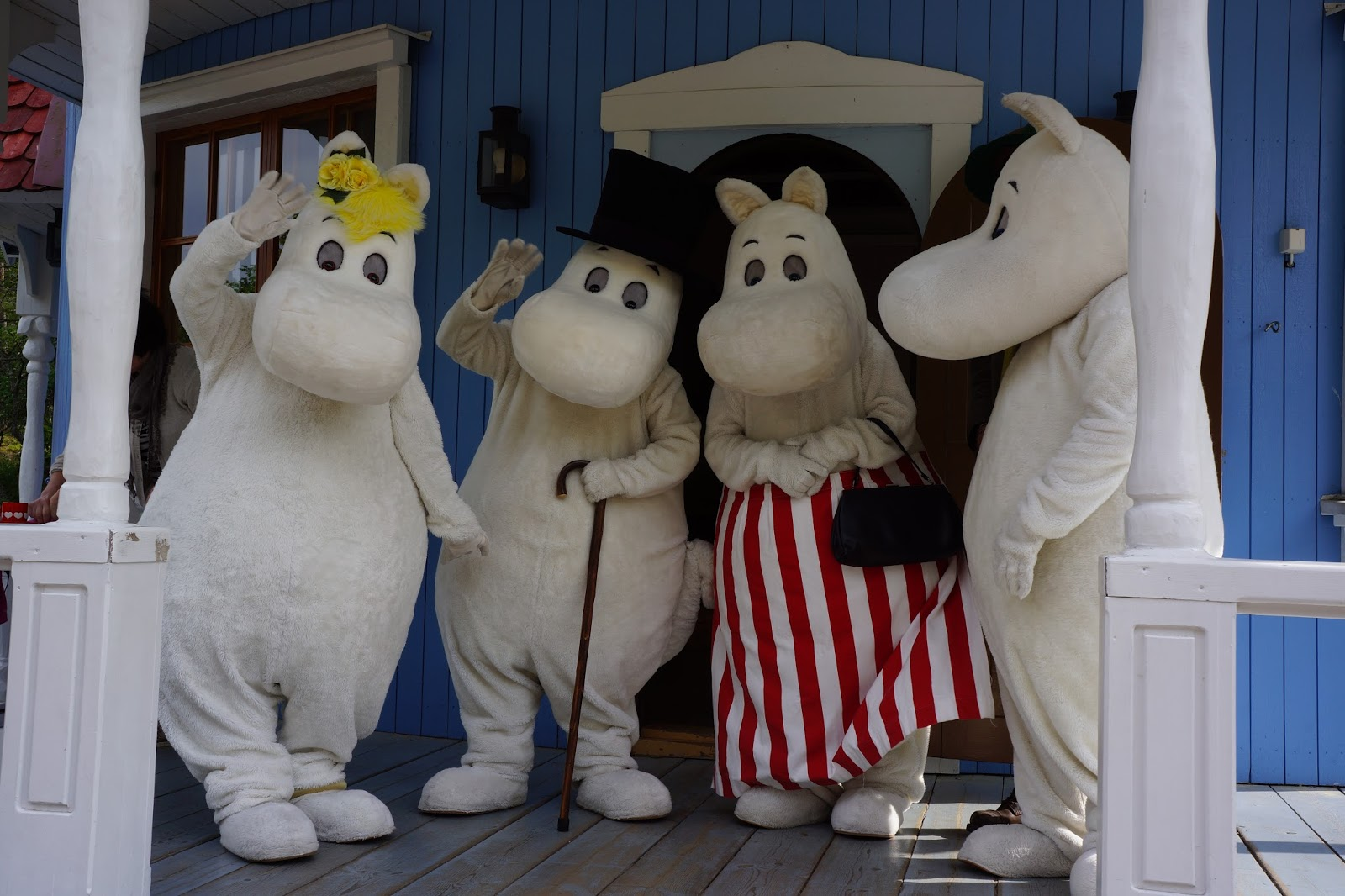 moomin world finland moomin family waving good bye
