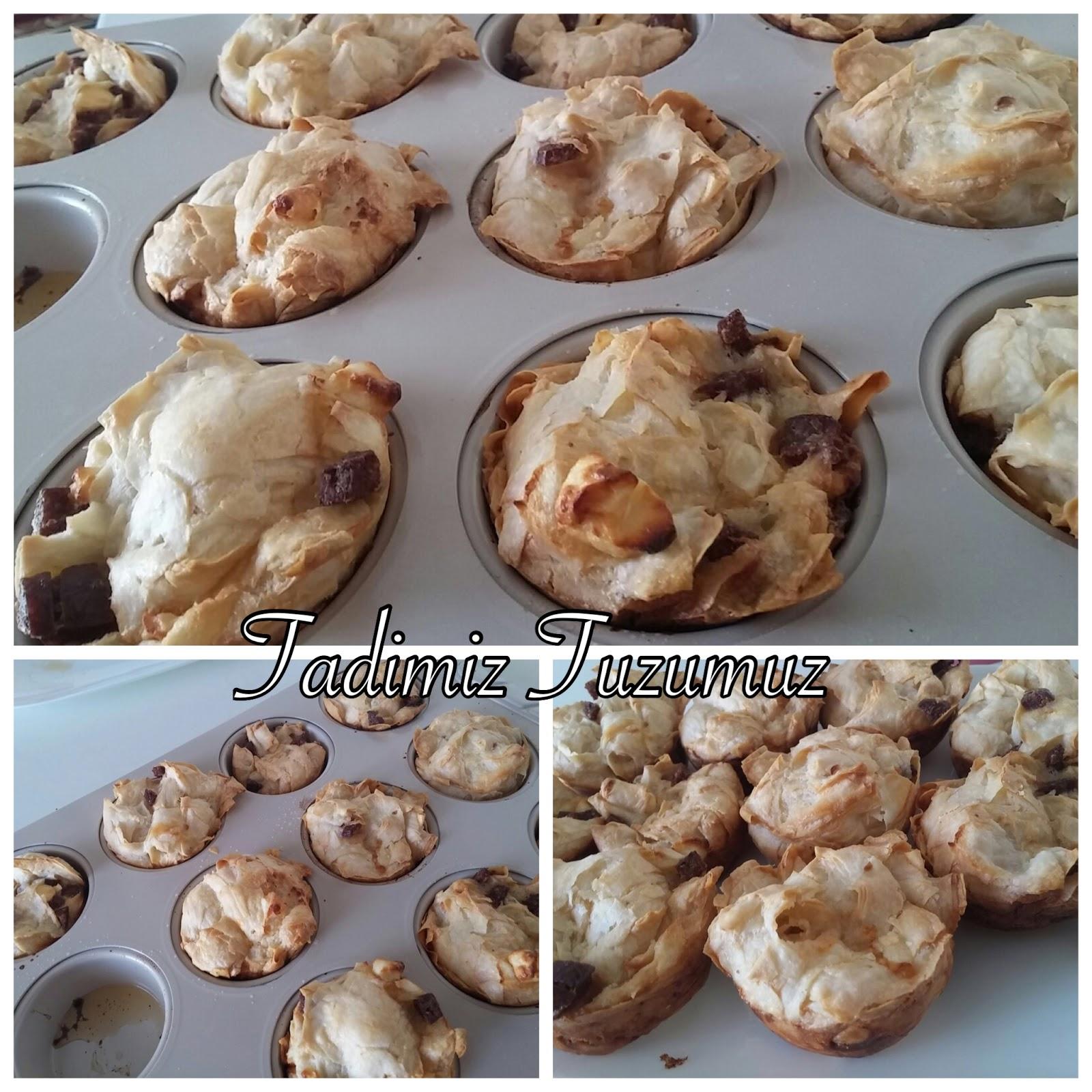 Peynirli Sucuklu Muffin Tarifi