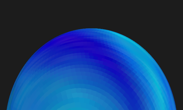 Beautiful color surface on 3D sphere.
