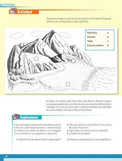 Apoyo Primaria Geografía 4to. Grado Bloque II Lección 1 Desde las montañas hasta el mar