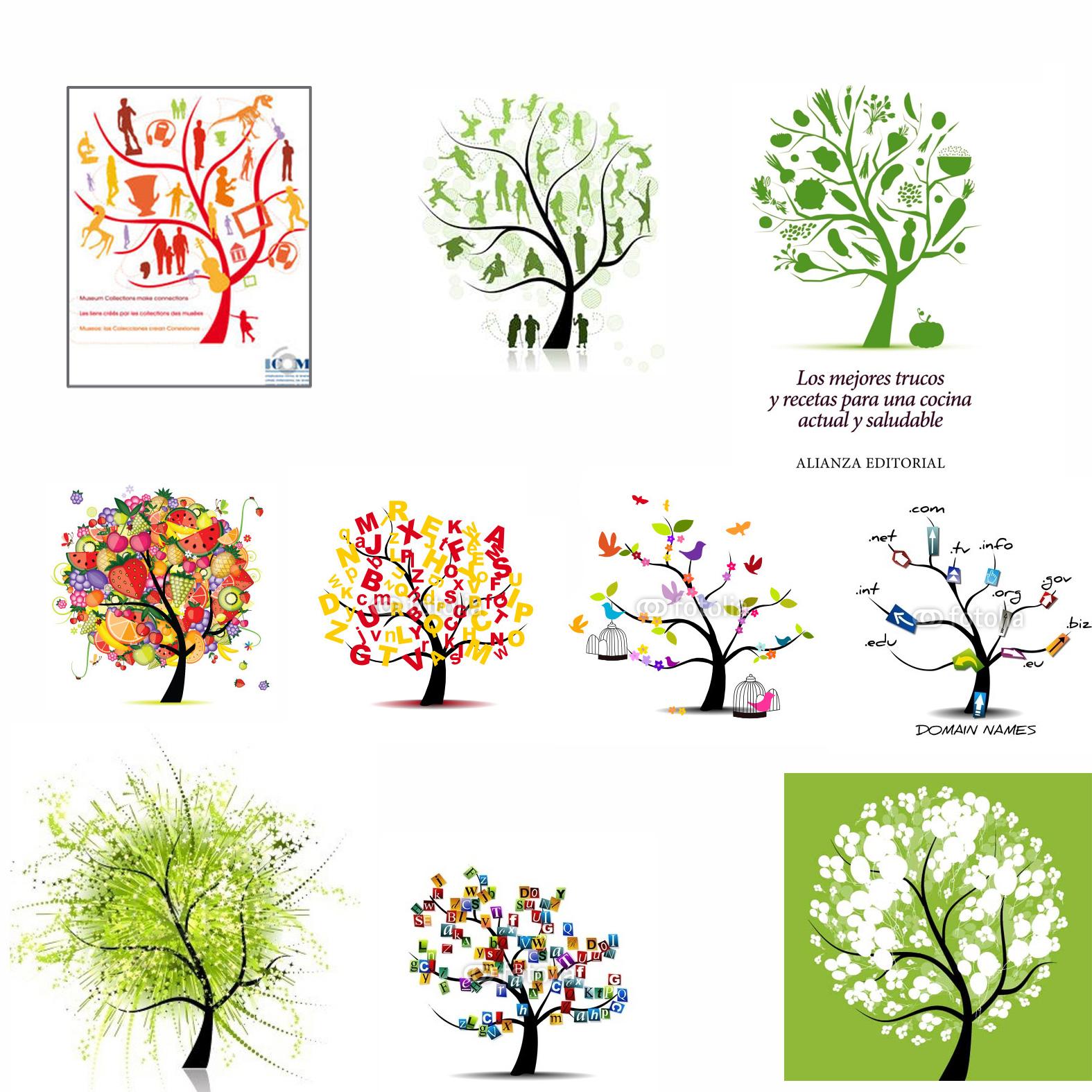 un bosque de mediocre, arboles, ICOM