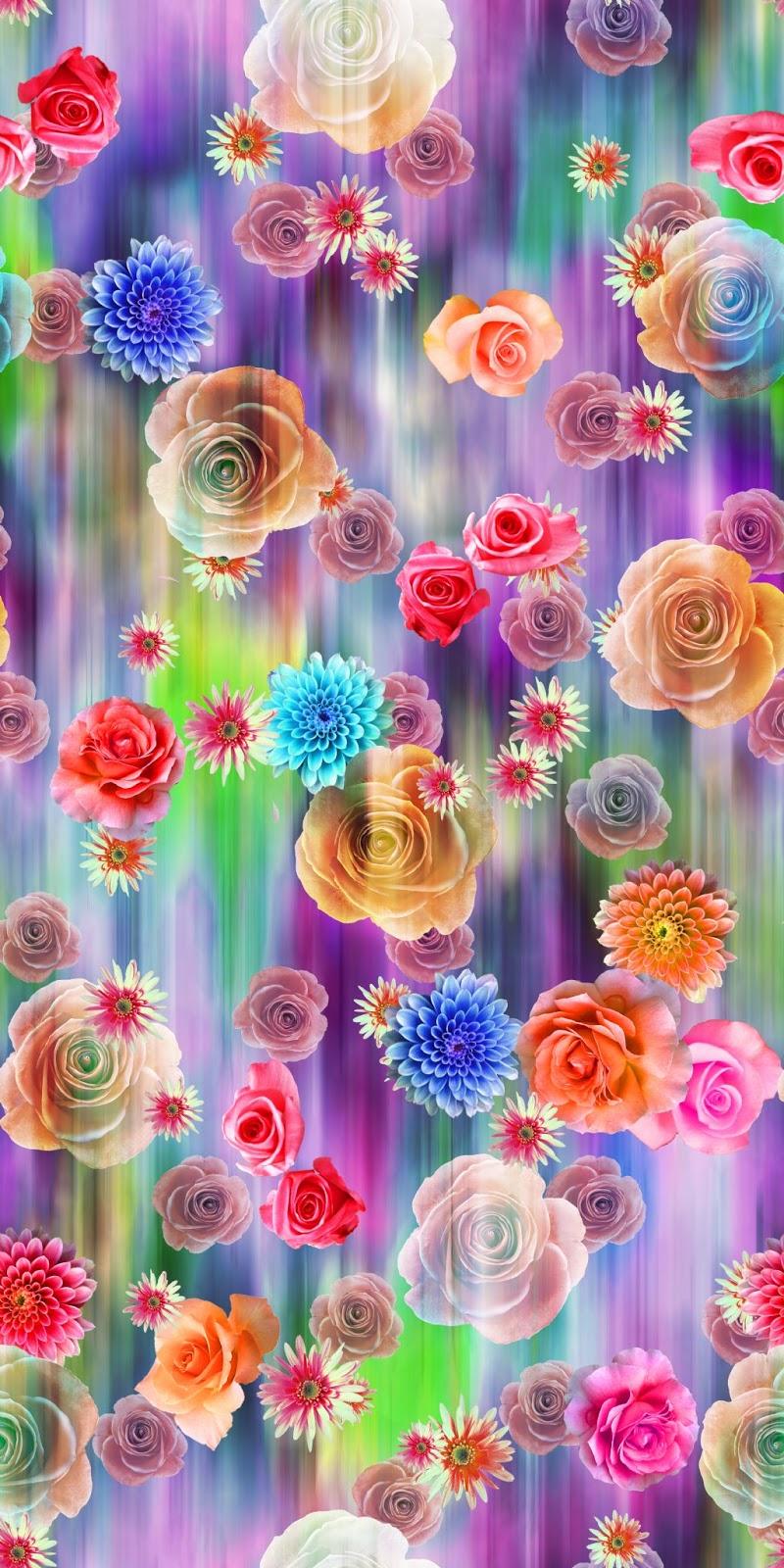 Natural Collage Flower Design Digital Print 1 Joy Design