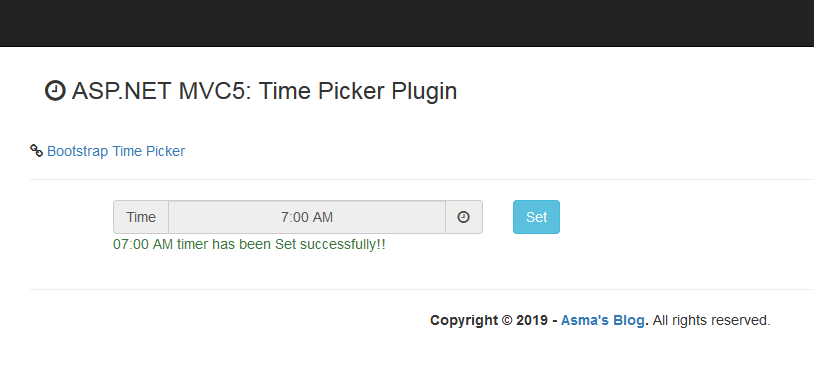 ASP NET MVC5: Time Picker Plugin - Asma's Blog