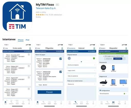 app mytim fisso con funzione per segnalazione reclami o disservizi