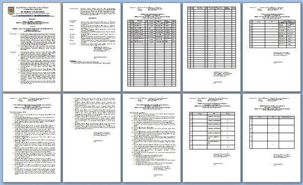 Contoh SK Panitia Ujian Sekolah US/M Tahun 2017 Format Microsoft Word