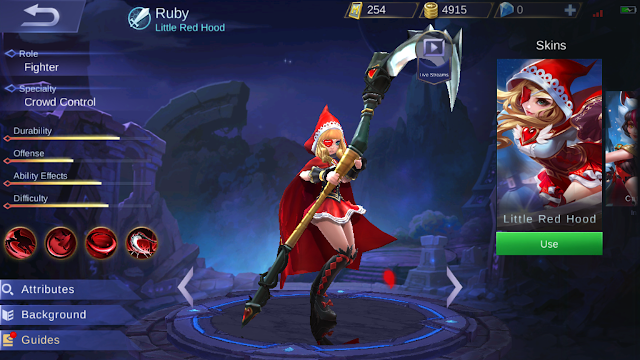 Ruby Mobile Legends Si Tukang Culik