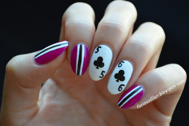 poker nails cards stripes wsop
